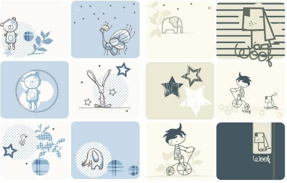 cute cartoon graphics vector