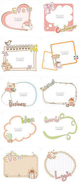 cute cartoon hand drawn frame vector