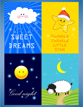 cute cartoon icons vector illustration