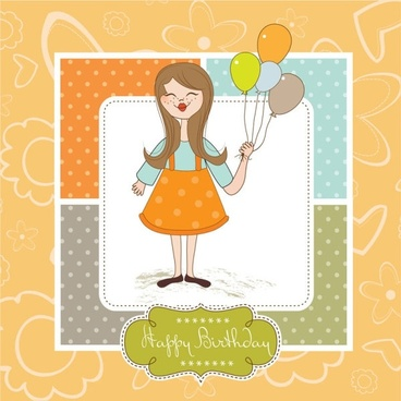 cute cartoon illustration 01 vector