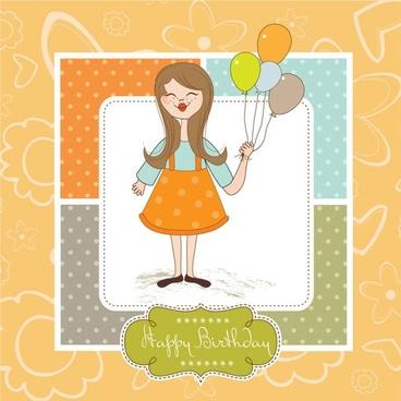 cute cartoon illustration 01 vector