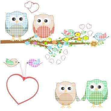 cute cartoon illustration 03 vector