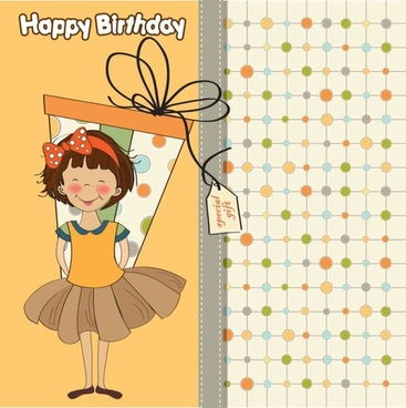 cute cartoon illustration 04 vector