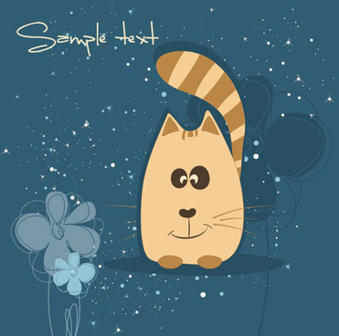 cute cartoon small animal vector background