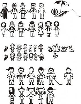 cute cartoon villain card vector art