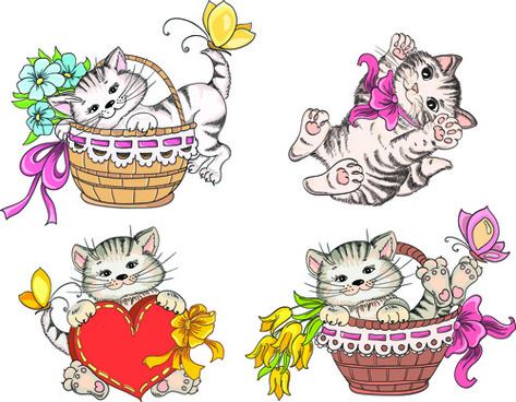 Cute Cat Vector Free Vector Download 6 666 Free Vector For