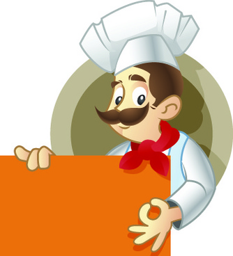 cute chef illustration vector set