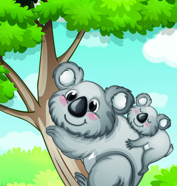 cute children with animals cartoon vector graphic
