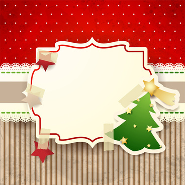 cute christmas cards with frame vector set