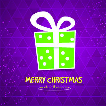 cute christmas gift box background vector