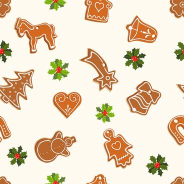 cute christmas seamless pattern vector