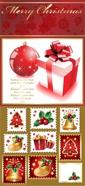christmas design elements modern classical symbols decor
