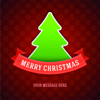 cute christmas tree backgrounds vector