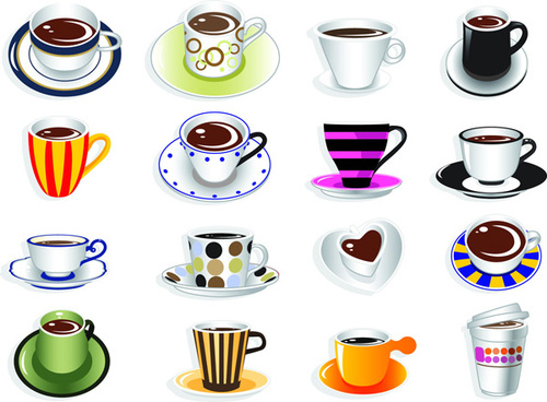 cute coffee cup vector graphic