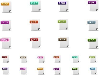 cute file format icons icons pack