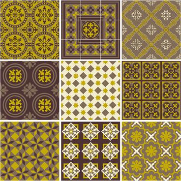cute floral decor pattern vector