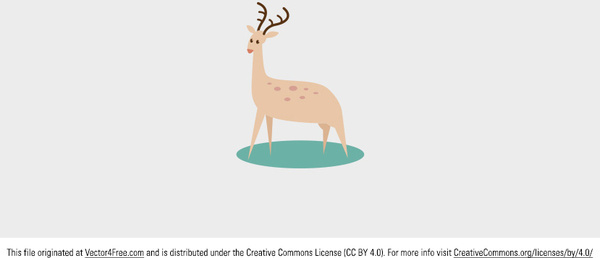 cute free vector deer