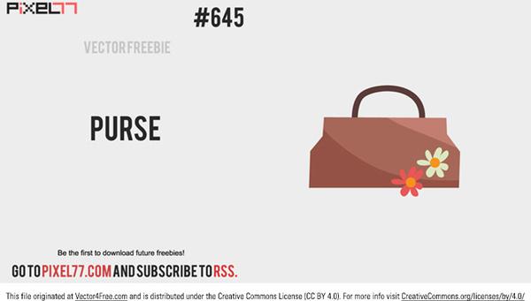 cute free vector purse