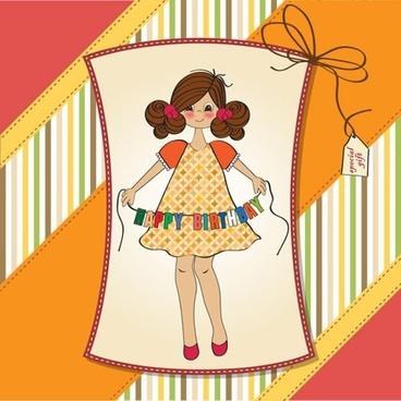 cute girl vector illustration