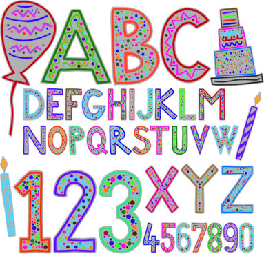 Cute Alphabet Letters Designs Free Vector Download 8 698 Free