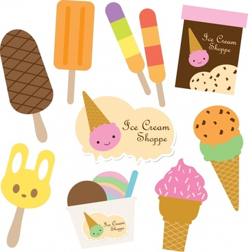 label tag templates ice cream theme flat colorful