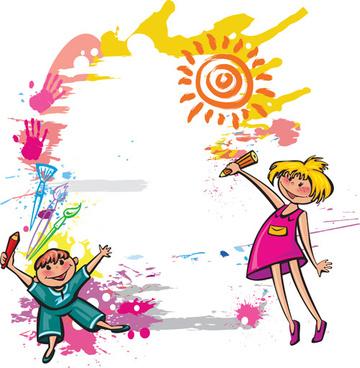 cute kids design vector