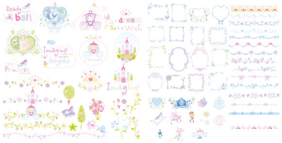 cute lace frames and borders vector set