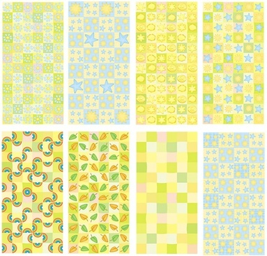 decorative pattern templates bright colorful flat repeating design