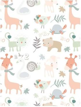 cute little animals vector