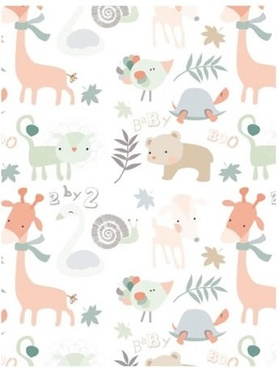 animals species background colorful classical flat design