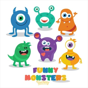 cute little monsters ready for halloween party