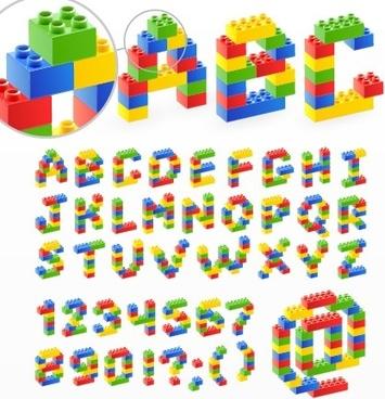 cute original alphabet set vector