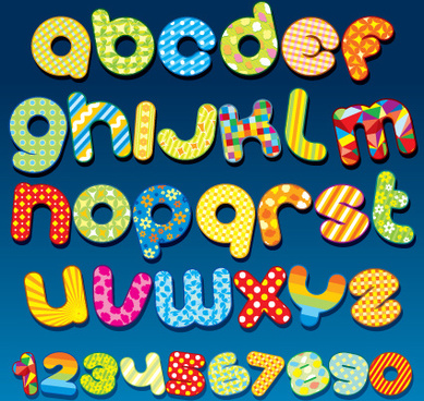 Cute Original Alphabet Set Vector