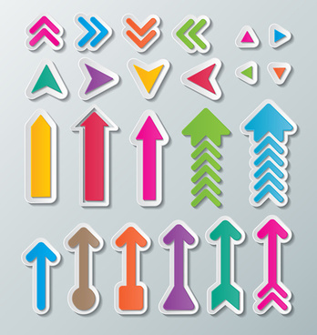 cute paper arrows vector
