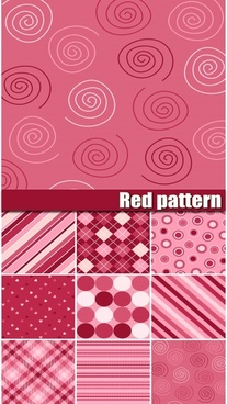 red pattern templates flat geometrical handdrawn illusion sketch