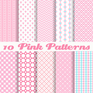 cute pink pattern vector graphics