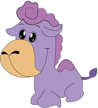 cute purple camel vector