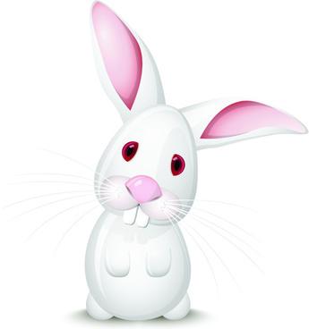 cute rabbits vector elements