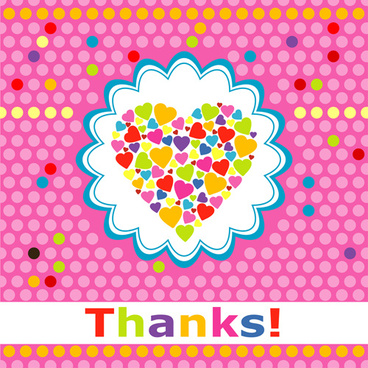 cute round dot heart greeting card vector graphics
