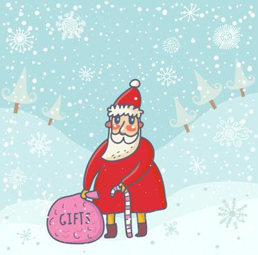 cute santa claus cards design vector