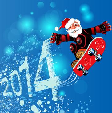 cute santa claus christmas background vector