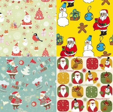 christmas background colorful classical symbols decor