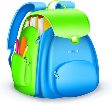 cute school bag design vector