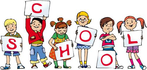 Cute school child design vector
