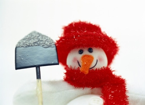 cute snowman hd pictures to take a shovel