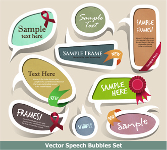 cute speech bubbles for you text vector
