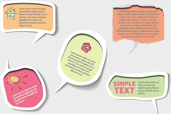 cute speech bubbles vector graphics