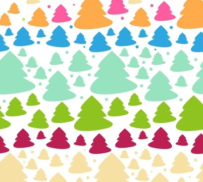 cute style tree christmas background vector graphic