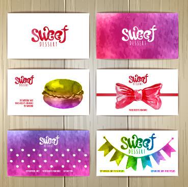cute sweet cards vectors