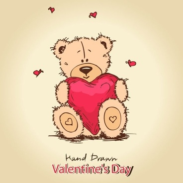 cute teddy bear background 01 vector